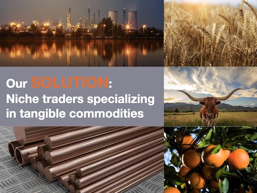 Niche commodity traders operate in energy, agriculture, and metals markets.
